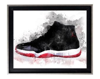 Jordania clipart bred Print Modern Jordan poster Splatter
