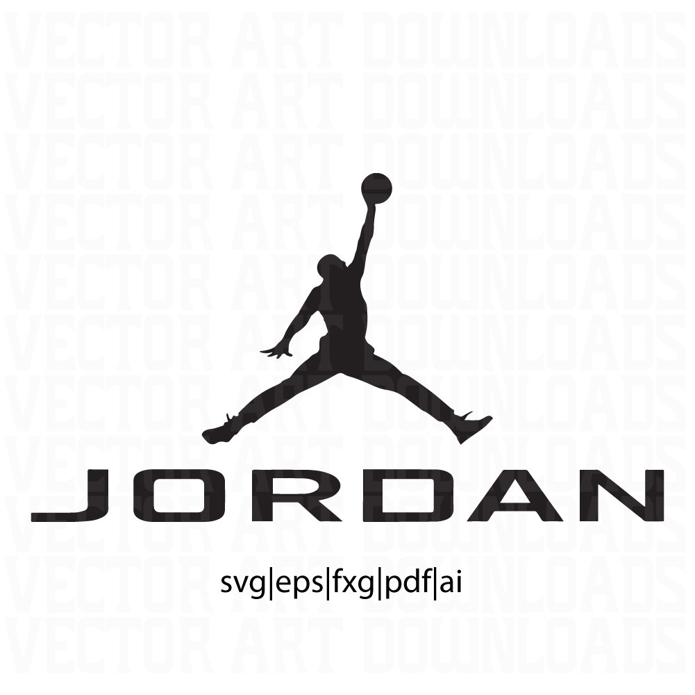 Jordania clipart jumpman Ai is dxf Jordan Art