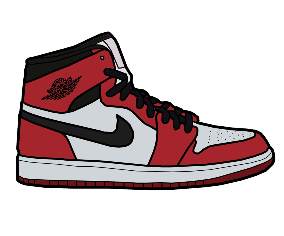 Drawn shoe jordan 1 Nike Air Art Air Clip