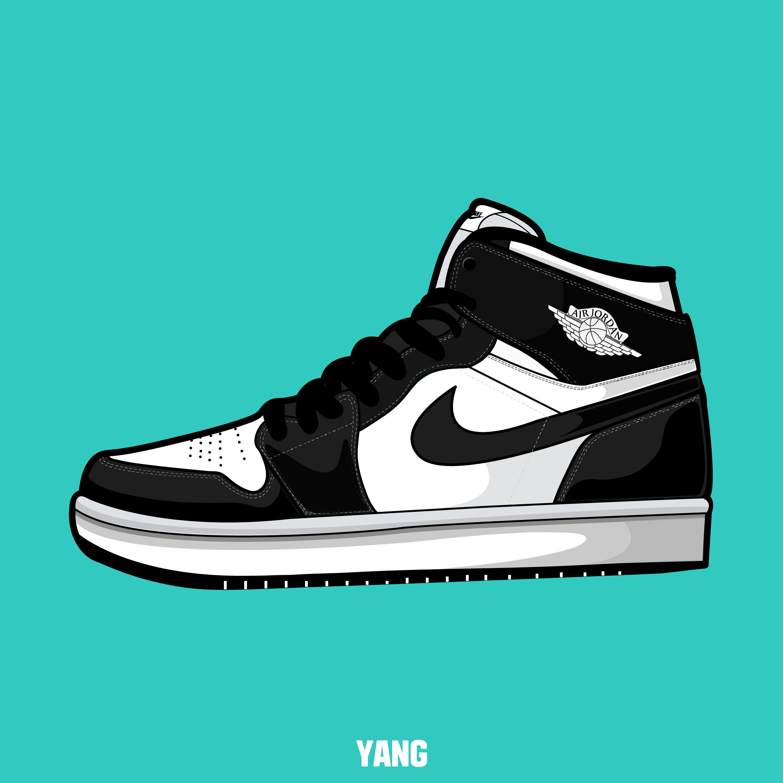 Drawn shoe air jordan shoe Air carmine sneakers sneakers drawing