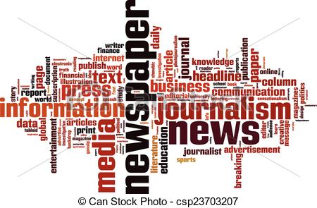 Journalist clipart advertisement Newspaper Newspaper cloud  concept