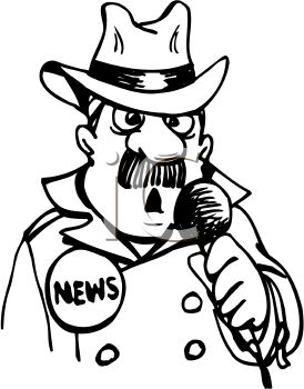 Notice clipart newscaster #1