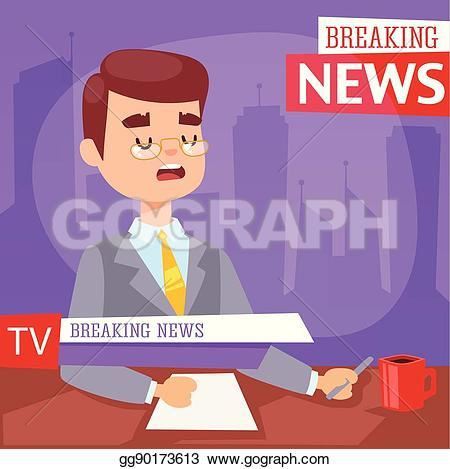 Journalist clipart breaking news And news Clipart layout newsreader