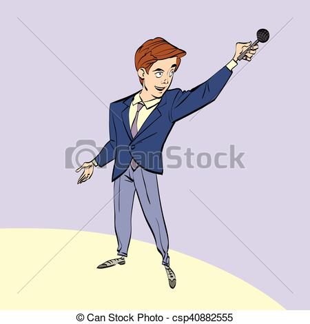 Journalist clipart broadcaster Clipart Vector microphone or