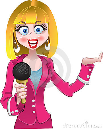 Journalist clipart female journalist #6