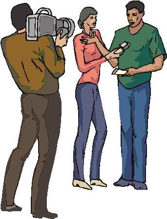 Celebrity clipart tv interview Interviewing Art Clip art clip