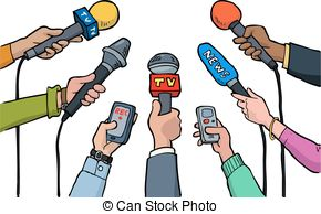 Celebrity clipart informal interview Background Cartoon Journalist a