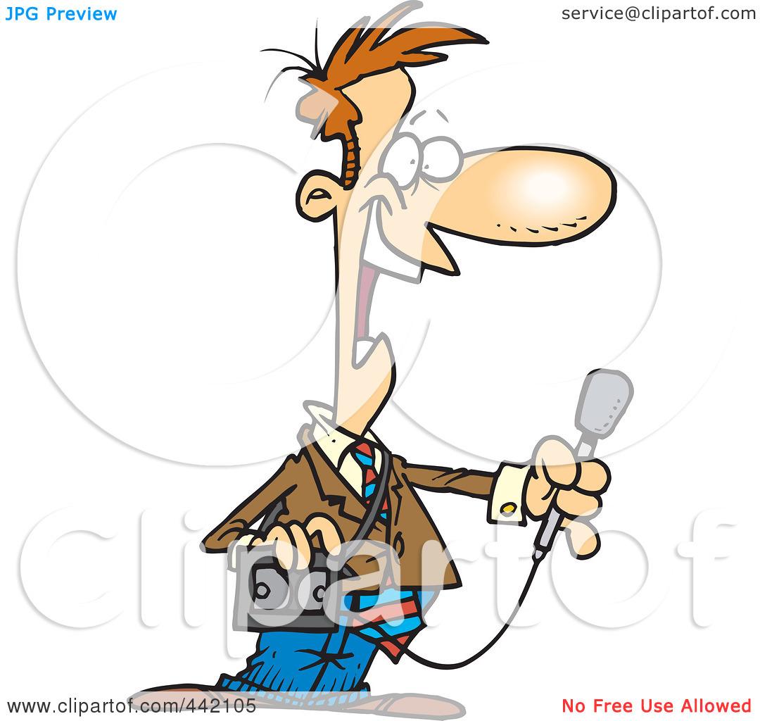 Journalist clipart news anchor #3