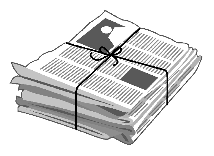 Journalist clipart newspaper article #4