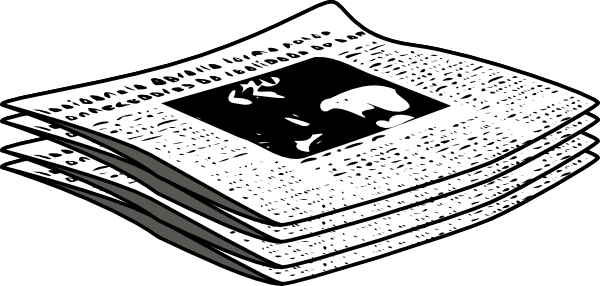 Journalist clipart newspaper article #3