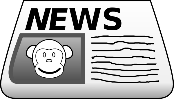 Journalist clipart newspaper article #2