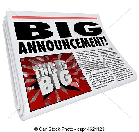 Notice clipart special announcement #6