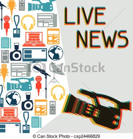 Journalist clipart print media Journalism Background Vector Background icons