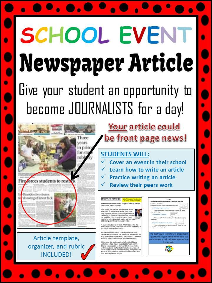 Club clipart school newspaper School School Event Article Back