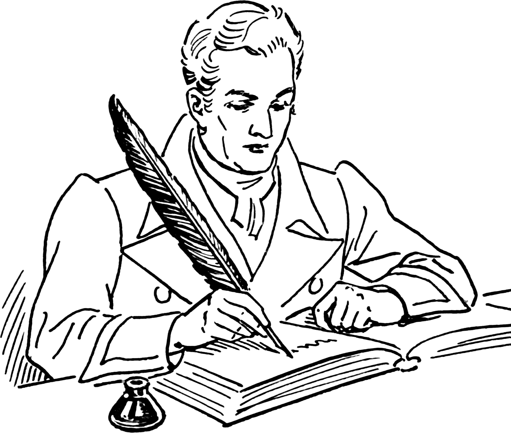 Journalist clipart writer And Clipart White Black 27169