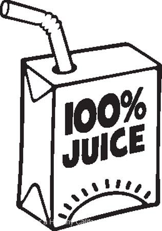 Juice clipart black and white Juice black black white clip