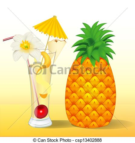 Juice clipart pineapple juice A a a in with