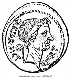 Julius Caesar clipart Julius Caesar Coin Drawing Minimal Theme Clip the with