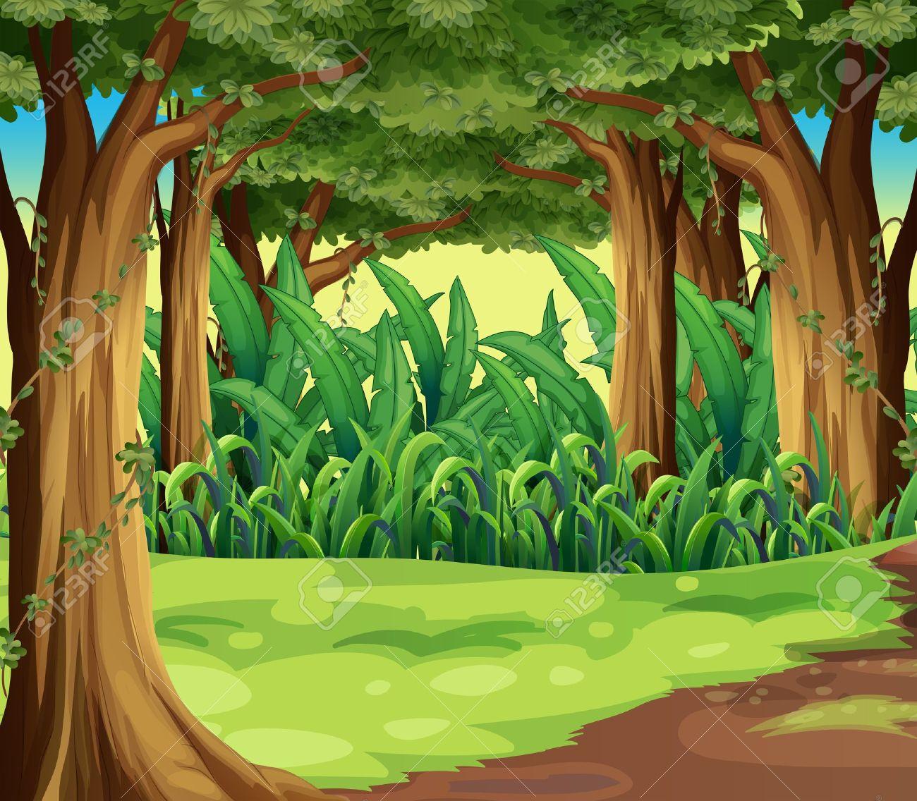 Wood clipart jungle scenery Jungle Panda Free Art Clipart