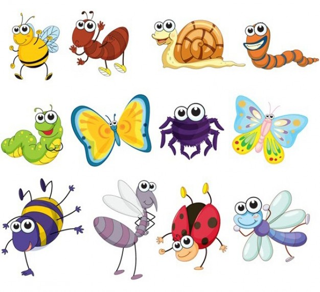 Bugs clipart jungle Animal Pinterest vectors insects insects