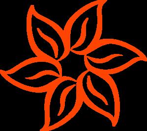 Orange Flower clipart cartoon vector Flower Art Art Dark vector