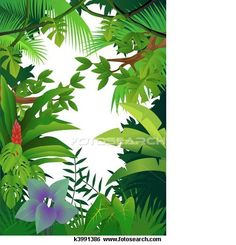 Scenery clipart jungle scenery #10