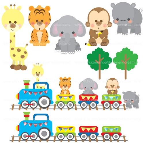 Baby Animal clipart train Train Art Cliparts Jungle Library