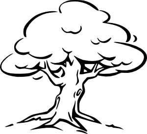 Larger clipart black and white White tree white and clipart