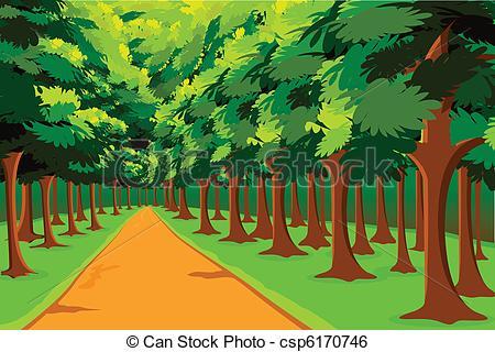 Wood clipart jungle scene Vector Clip of in Vector