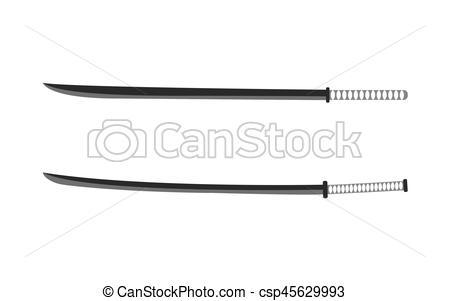 Katana clipart knife Csp45629993 of Vector illustration weapons