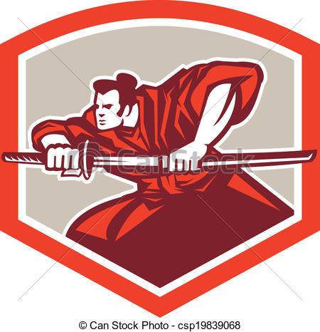 Katana clipart samari Of Drawing Samurai Shield Shield