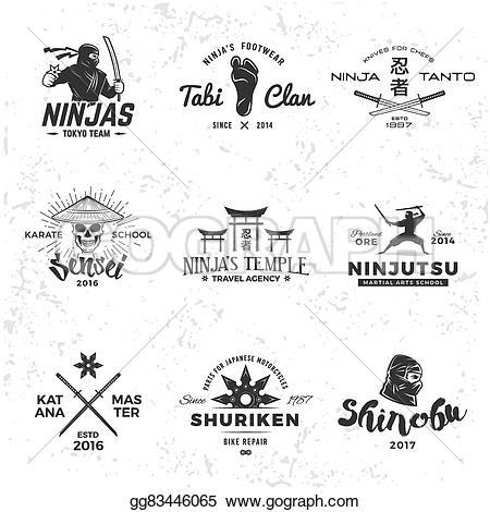 Martial Arts clipart sensei Logo Set mascot katana of