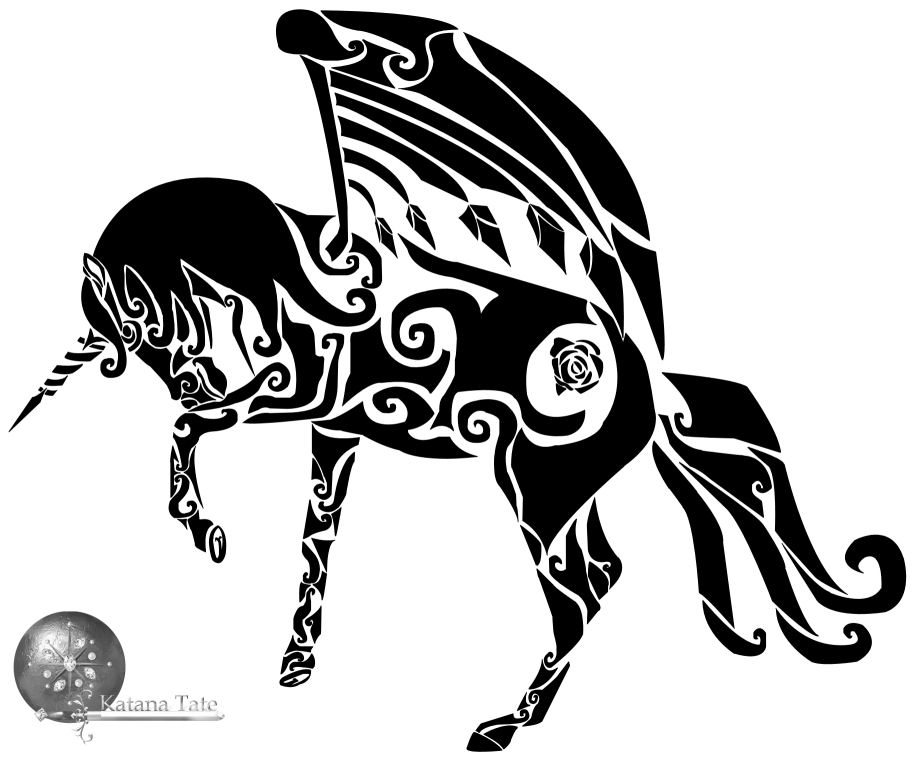 Katana clipart tribal Tate Katana Alicorn Alicorn Tribal