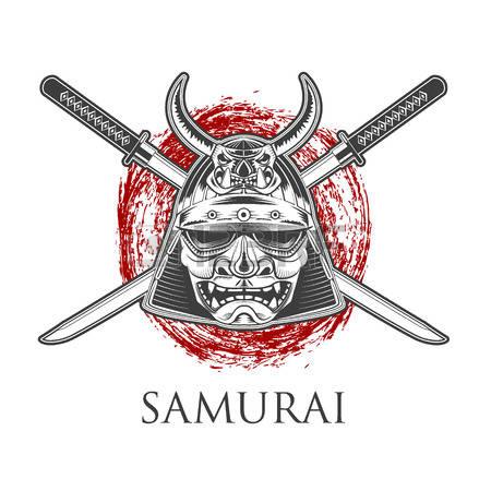 Katana clipart tribal Label badge Label Katana With