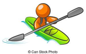 Canoe clipart rafting EPS Art water kayaking