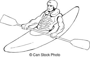 Kayak clipart black and white 654 illustration Clip Art Kayaking