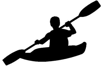 Kayak clipart black and white Free Art » Sports ClipartPod