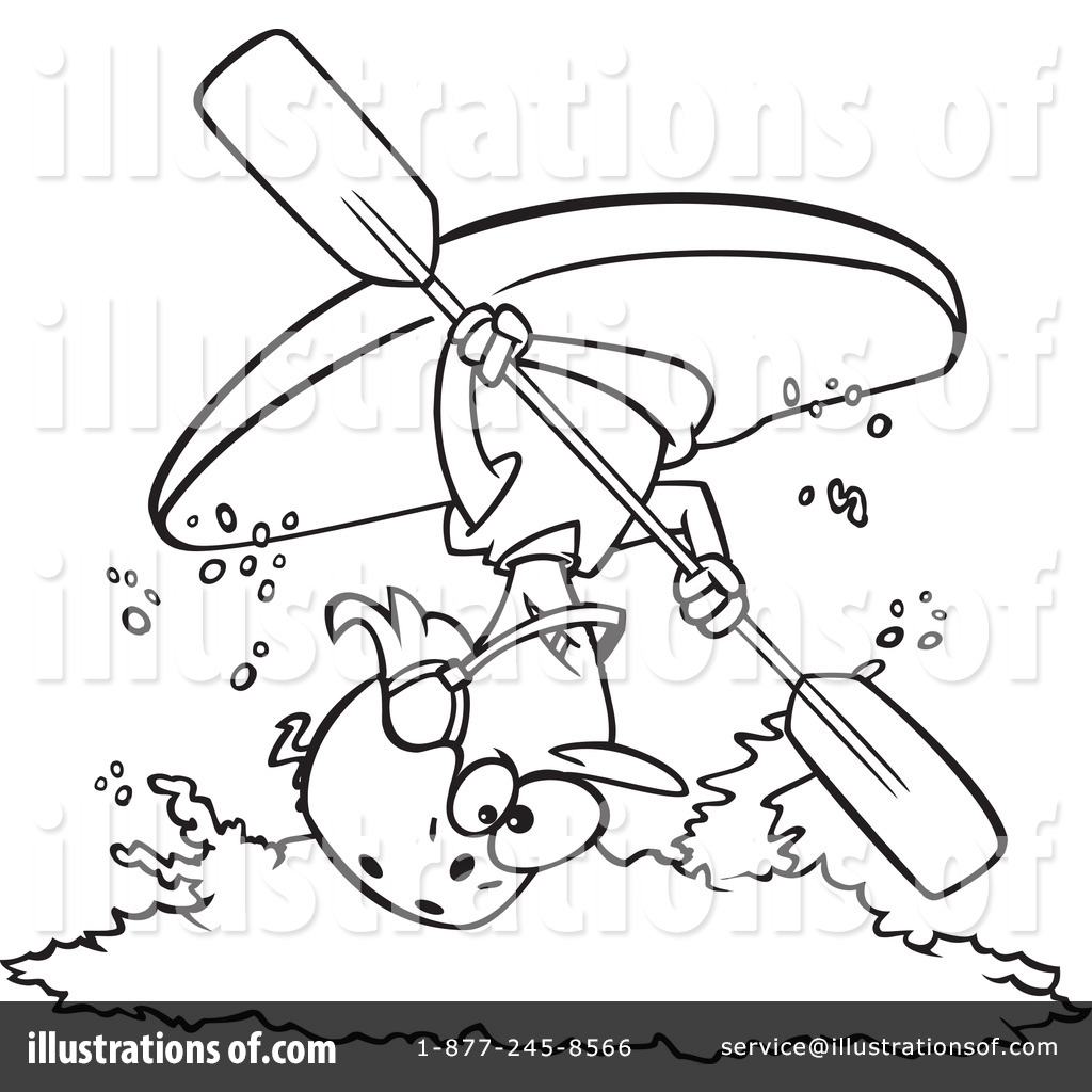 Kayak clipart outline Kayaking Clipart #1080544 #1080544 Illustration