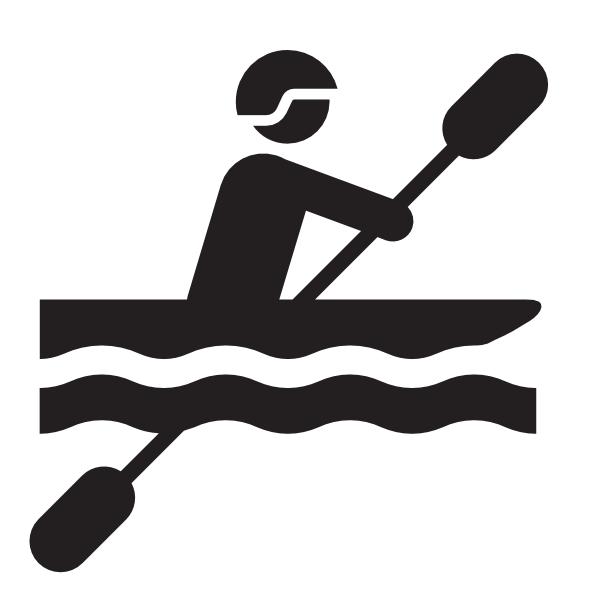 Kayak clipart outline Com vector  clip Art