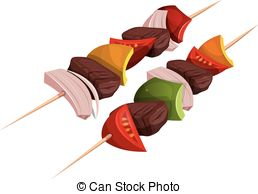 Kebab clipart Skewers Clip Kebab Cartoon showing
