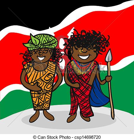 Kenya clipart And vector art people EPS