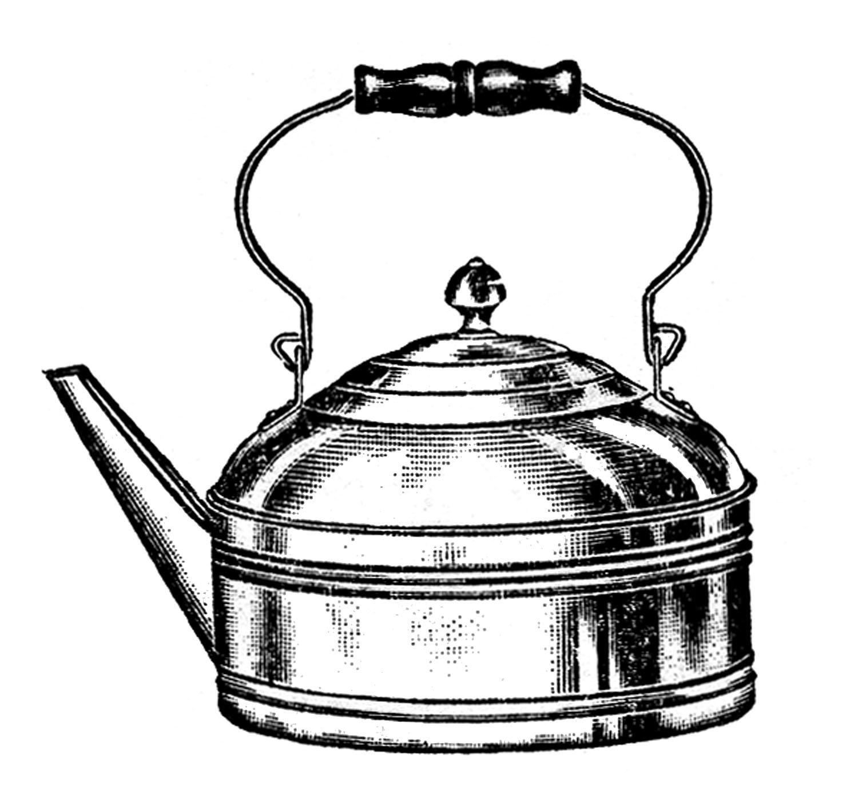 Kettle clipart Pots  Vintage Clip Tea