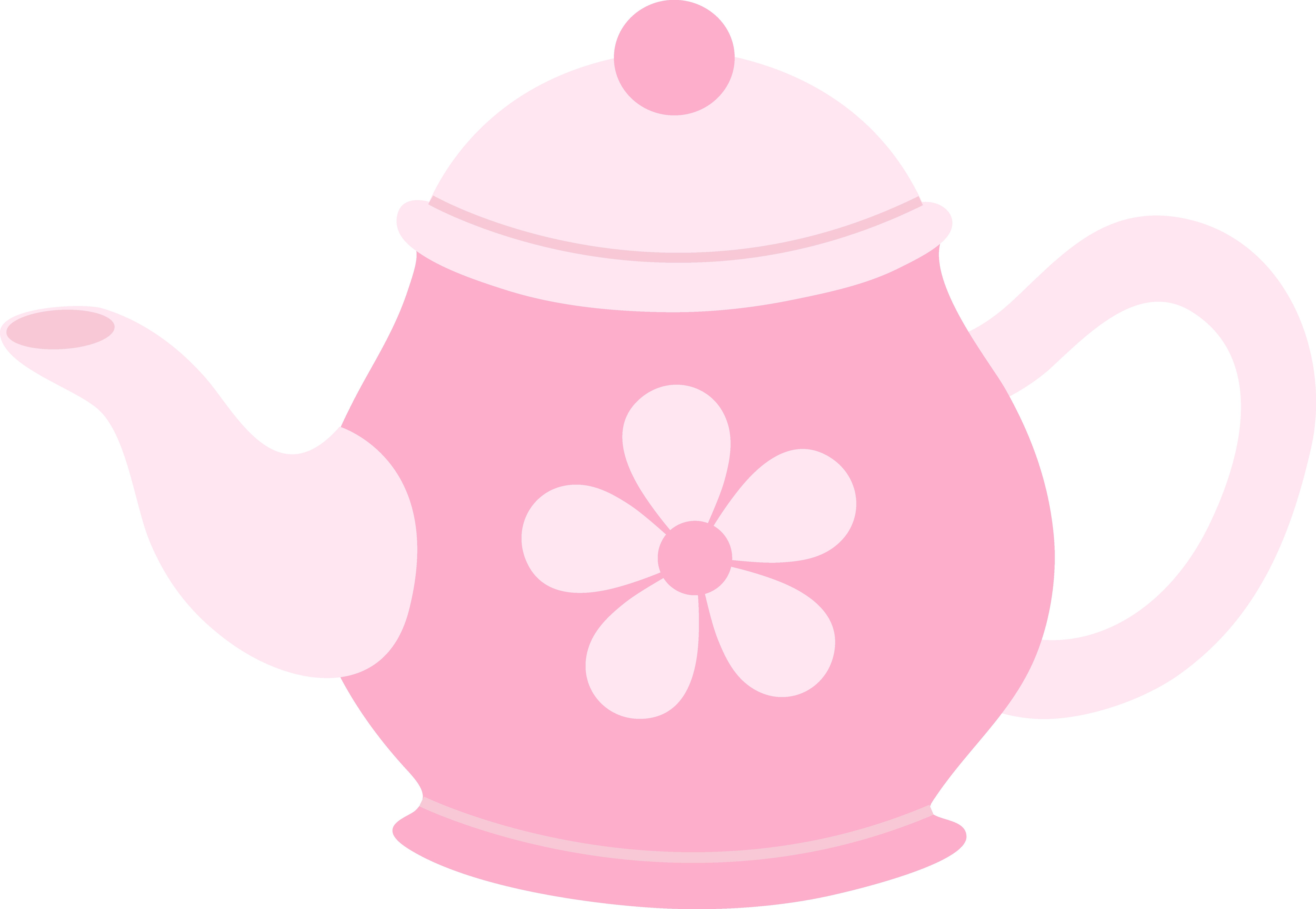 Teapot clipart cute Daisy Flower With Teapot Pink