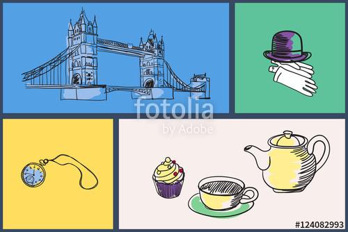 Kettle clipart tea cake Kettle hat English symbols bowler