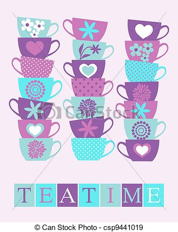 Teapot clipart teacup stack Pink Clipart clipart Teacup cups