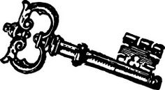 Alice In Wonderland clipart key Key Vintage key (59+) art