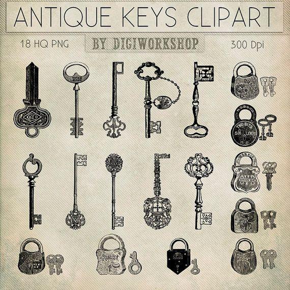 Key clipart antique key Images Antique contains Pinterest or