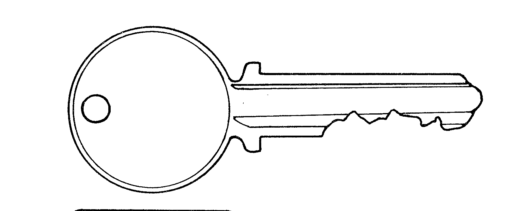 Key clipart black and white White Black and Key Clip