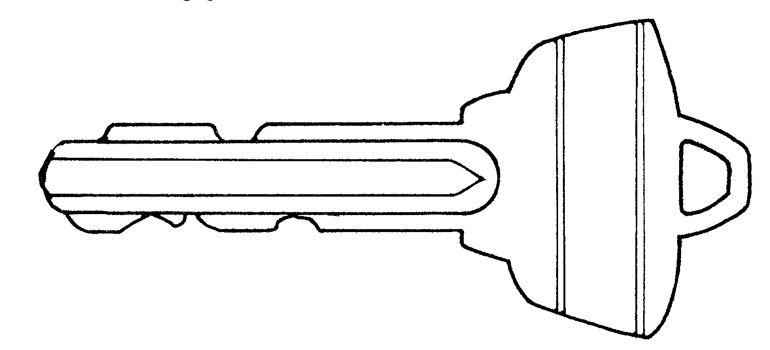 Key clipart black and white Clip free key art clip