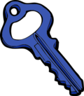 Key clipart blue Key Art Clip vector key